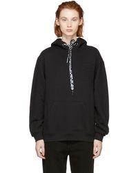 Proenza Schouler - Black Pswl Hooded Sweatshirt - Lyst