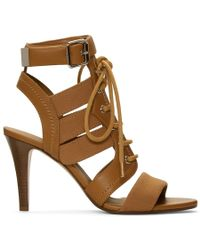 Chloé - Brown Lace-up Heeled Sandals - Lyst