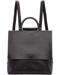 Building Block | Black Leather Mini Rucksack | Lyst