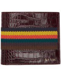 Paul Smith - Burgundy Bright Stripe Wallet - Lyst