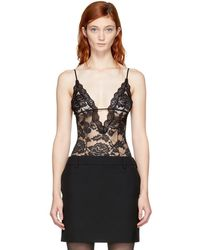 Saint Laurent - Black Lace Bodysuit - Lyst