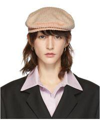 Isabel Marant - Pink Corduroy Gabor Cap - Lyst
