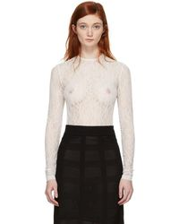 Givenchy - White Lace Bodysuit - Lyst