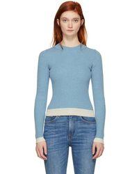 MM6 by Maison Martin Margiela - Blue Gauge 18 Contrast Sweater - Lyst