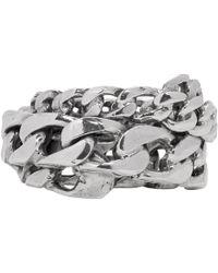 Emanuele Bicocchi - Silver Spiral Chain Ring - Lyst