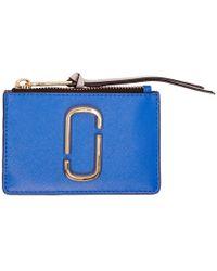 Marc Jacobs - Blue Snapshot Top Zip Multi Card Holder - Lyst