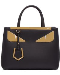 6298b52cd205 Lyst - Fendi Mini  3jours  Printed Tote Bag in Black