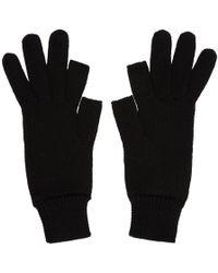 Rick Owens - Black Touchscreen Gloves - Lyst