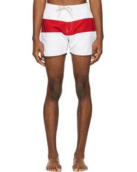 Saturdays NYC - Red And White Grant Board Shorts - Lyst