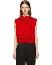 Raf Simons - Red Blow-up Patchwork Gilet Vest - Lyst