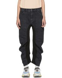 Stella McCartney - Black Ruched Jeans - Lyst