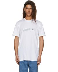 Lanvin - White Crossed Out Logo T-shirt - Lyst