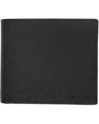 Prada - Black Leather Bifold Wallet - Lyst