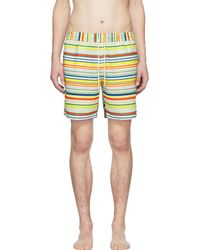 Loewe - Multicolor Striped Swim Shorts - Lyst