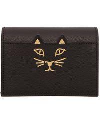 Charlotte Olympia - Black Feline Card Wallet - Lyst