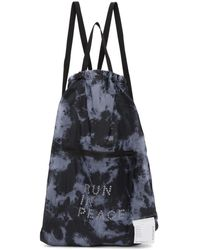 Satisfy - Blue And Black Tie-dye The Gym Bag Backpack - Lyst