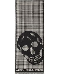 Alexander McQueen | Black And Off-white Oversized Skull Scarf | Lyst