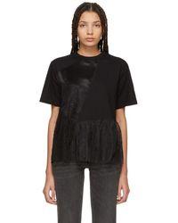 McQ - Black Cut-up Flared T-shirt - Lyst