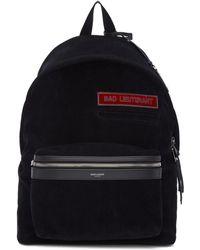 Saint Laurent - Black Corduroy 'bad Lieutenant' City Backpack - Lyst