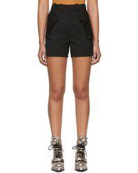 Chloé - Black Wool Pocket Shorts - Lyst