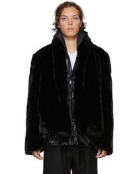 99% Is - Black Layered Faux-fur Coat - Lyst