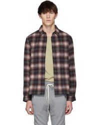 John Elliott - Red Alpaca Sly Straight Hem Shirt - Lyst