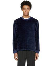 Fanmail - Navy Velour Sweatshirt - Lyst