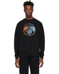 Marcelo Burlon - Black And Multicolor Nba Edition Ny Knicks Mesh Sweatshirt - Lyst