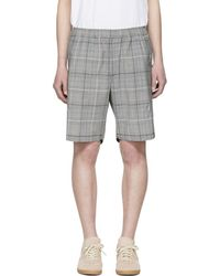 Tim Coppens - Grey Wool Check Staple Shorts - Lyst