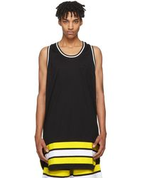 Givenchy - Black Oversized Striped Tank Top - Lyst