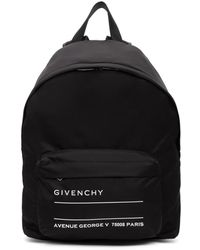 Givenchy - Black Address Tag Backpack - Lyst