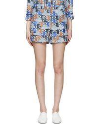 Emilio Pucci - Blue Monogram Pyjama Shorts - Lyst