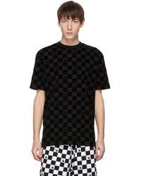 McQ - Black Checkered T-shirt - Lyst