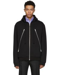 Maison Margiela - Black Five-zip Hoodie - Lyst