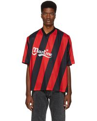 Martine Rose - Black And Red Twist Football T-shirt - Lyst
