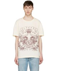 Gucci - Ivory 'loved' Logo T-shirt - Lyst