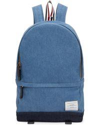 Thom Browne - Blue Denim Unstructured Backpack - Lyst