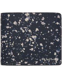 PS by Paul Smith - Blue Splatter Bleach Bifold Wallet - Lyst