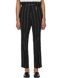 Haider Ackermann - Black And White Kunzite Double Waisted Trousers - Lyst