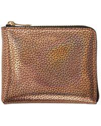 Paul Smith - Gold Corner Zip Wallet - Lyst