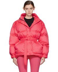 Ienki Ienki - Pink Down Michelin Belted Hooded Jacket - Lyst
