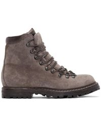 Officine Creative - Taupe Suede Kontra Hiking Boots - Lyst