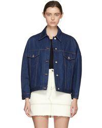 MM6 by Maison Martin Margiela - Indigo Oversized Jacket - Lyst