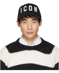 DSquared² - Black And White Icon Baseball Cap - Lyst