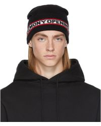 Lyst - Opening Ceremony Oc Logo Knit Beanie in Black for Men a2451127a2d3
