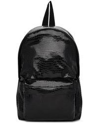 Comme des Garçons - Black Small Croc Faux-leather Backpack - Lyst