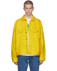 Etudes Studio - Yellow Linen Denim Vertige Jacket - Lyst