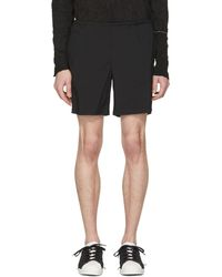 Kolor - Black Nylon Drawstring Shorts - Lyst