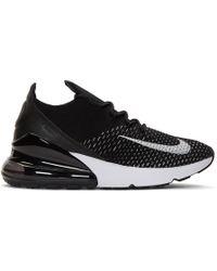 Nike - Black And White Flyknit Air Max 270 Sneakers - Lyst