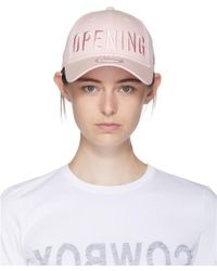 Opening Ceremony - Pink Satin Stitch Baseball Cap - Lyst